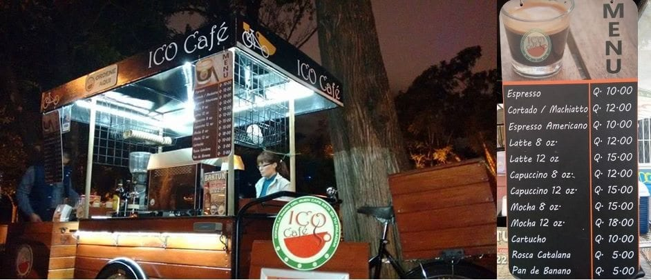 ICO Café, the self-sustaining specialty coffee cart serving up great espresso to the night crowd in Guatemala City! - Perfect Daily Grind Specialty Coffee Blog