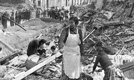 Civilians search through rubble in Madrid during the Spanish Civil War - Perfect Daily Grind Specialty Coffee Blog