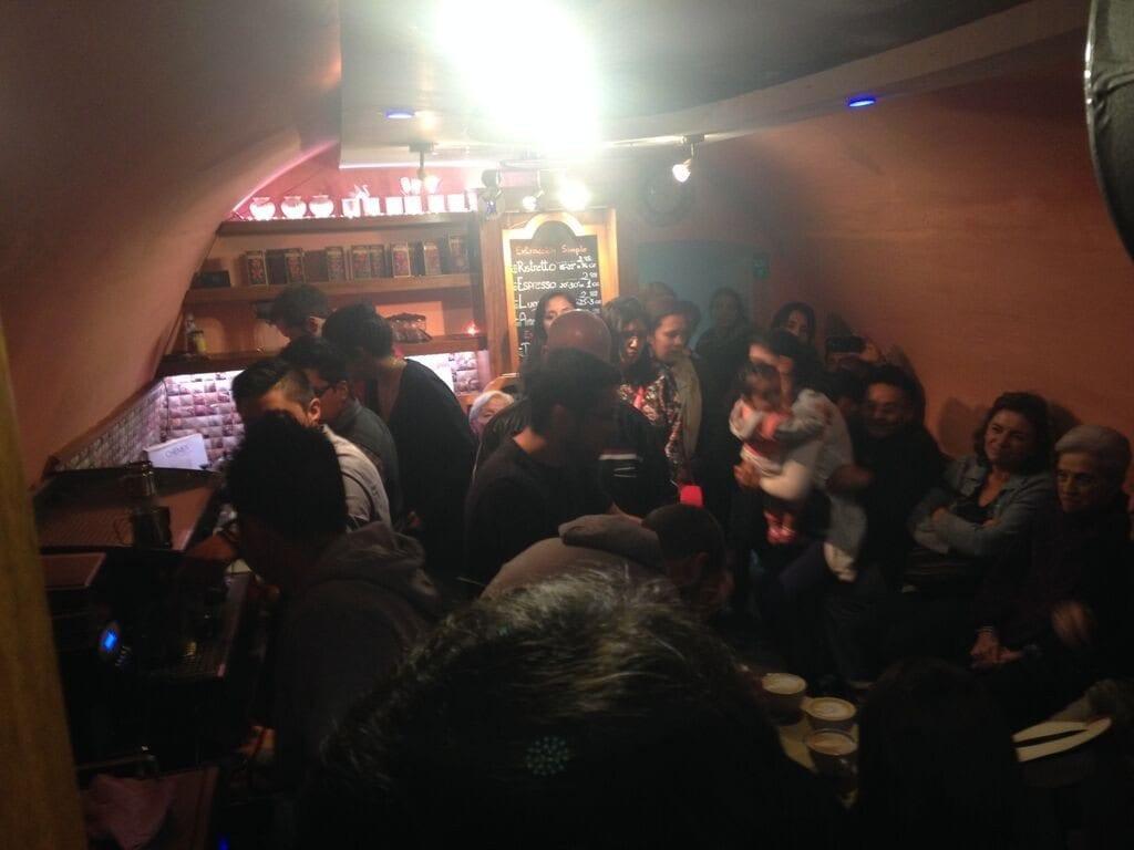 Group in a café
