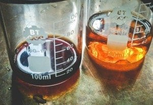 Clear filtered specialty coffee.