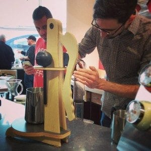 Aeropress at the brew bar looks dull without a stand