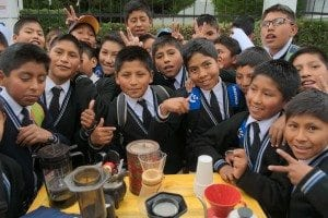 'How to Brew' coffee for kids in Oruro, Brazil