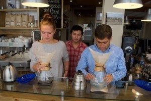 Chemex coffee competition in Roaster Boutique