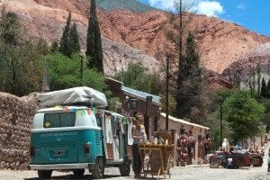 A mobile coffee shop in northern Argentina