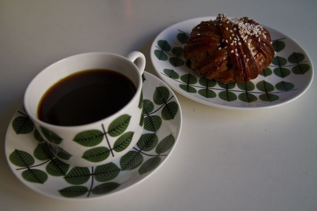 coffee and a Swedish cinnamon bun