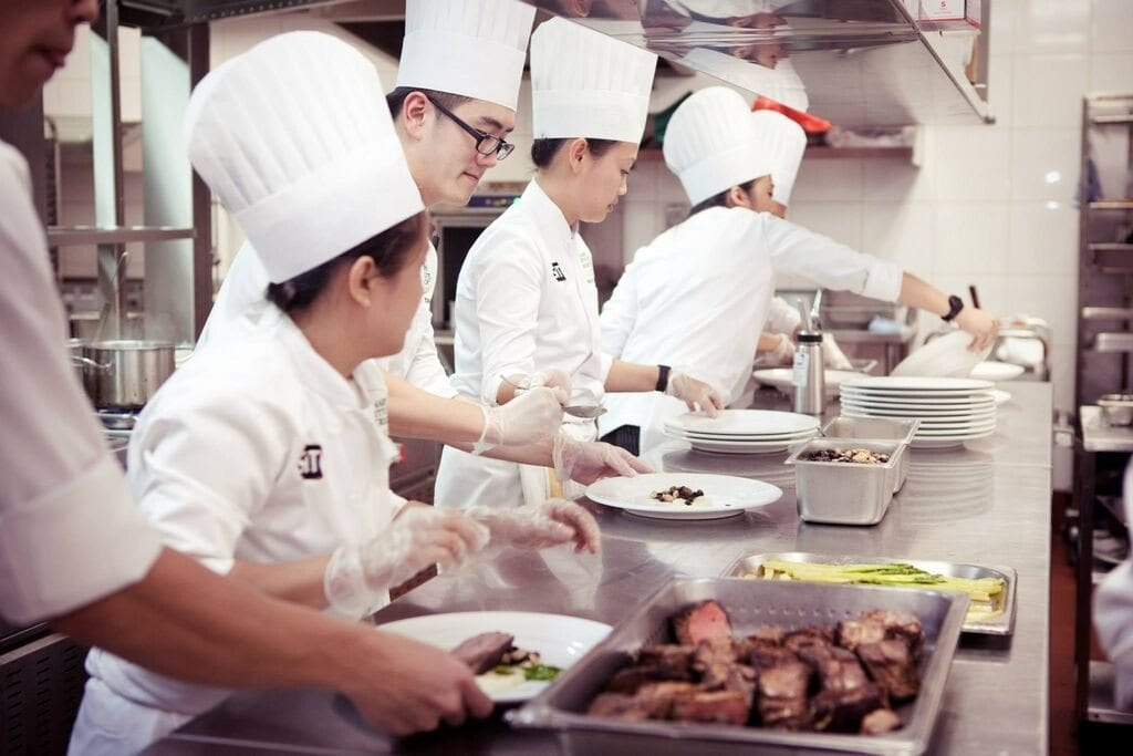Chefs working