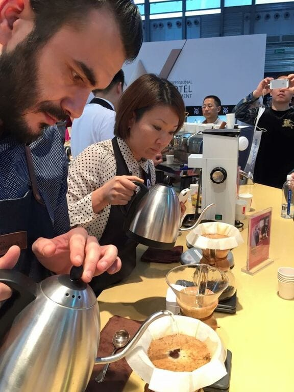 Hanna Teramoto at the World Brewers Cup Championship