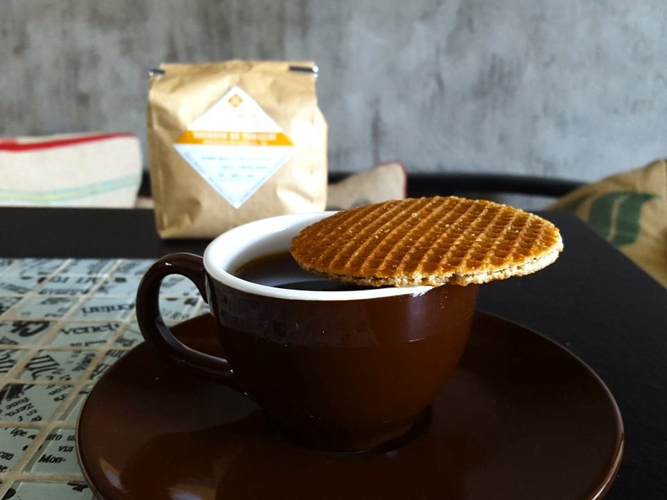 stroopwafel over coffee