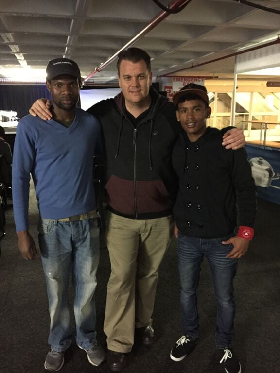 Three man standing