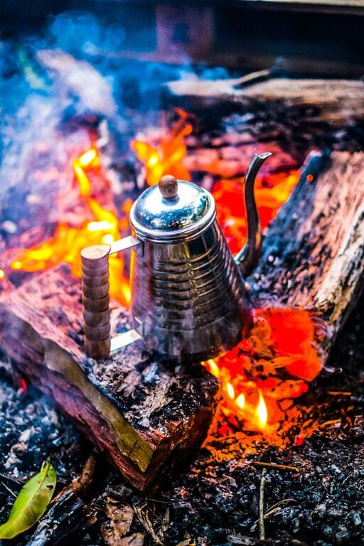 kettle in the woods