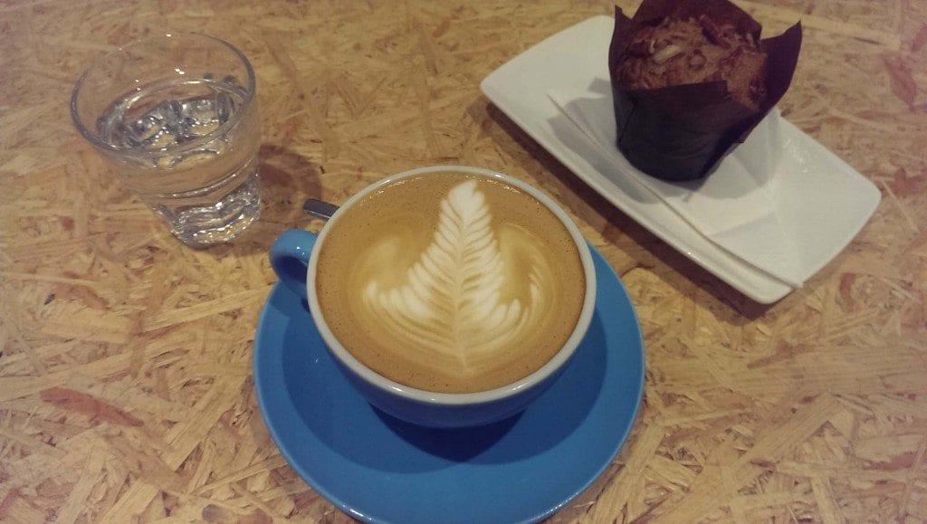 Latte at Workshop Coffee