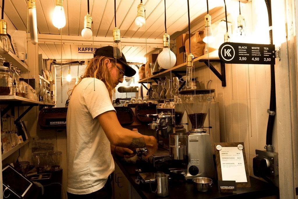 barista behind the bar
