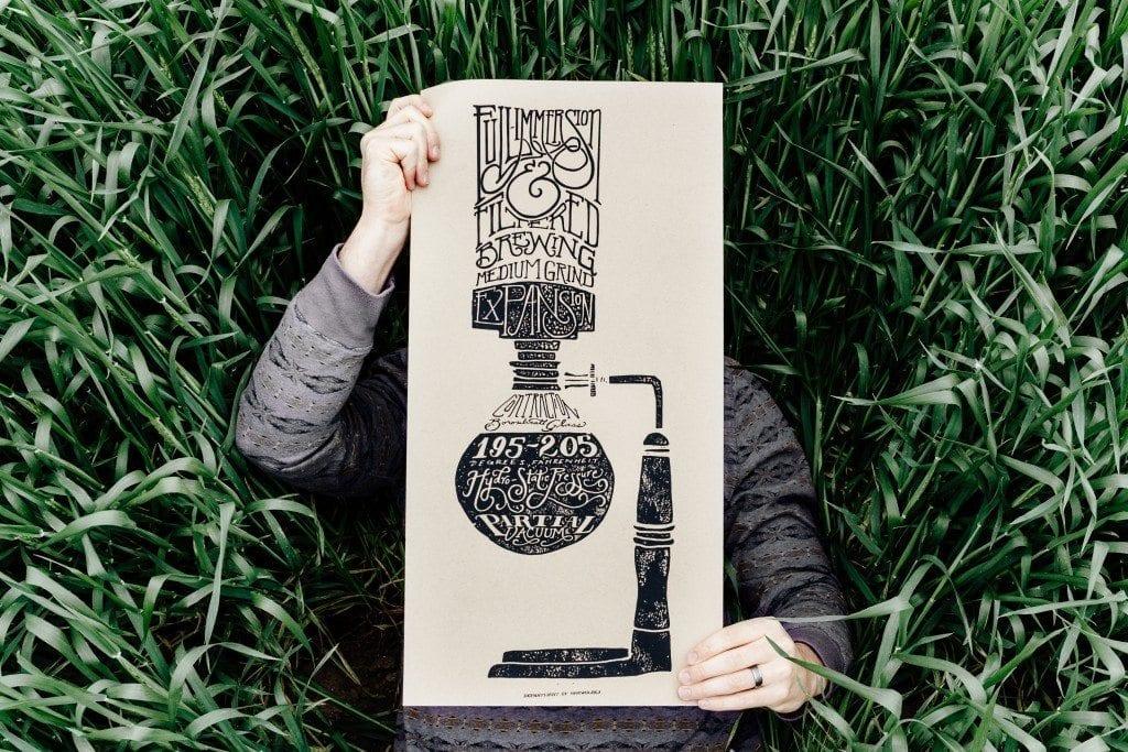 Department of Brewology - Siphon Print - 12x24 Screen Print Art