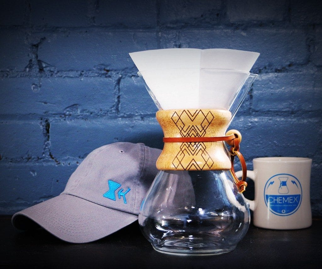 Chemex Coffee Maker, Adams Hat, and Chemex 10oz Mug