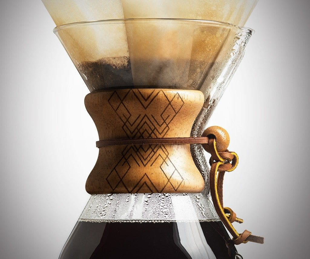 8 Cup Chemex with Laser Engraved Geo Collar
