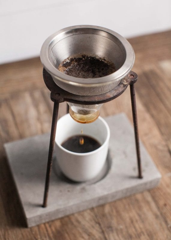 coffee barista pour over stand
