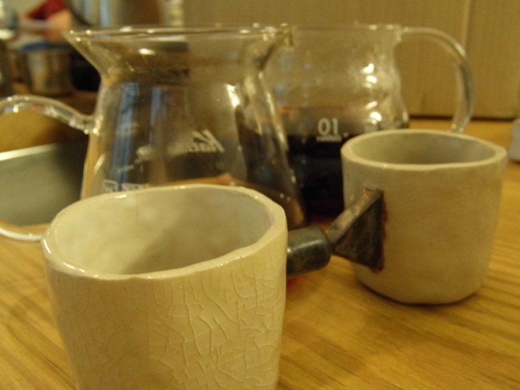 Coffee cups at Nomad Coffee