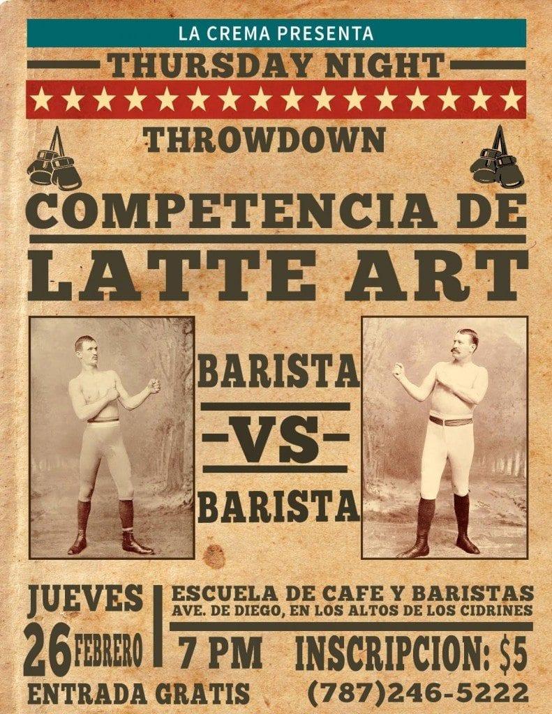 Latte art throwdown advertisement