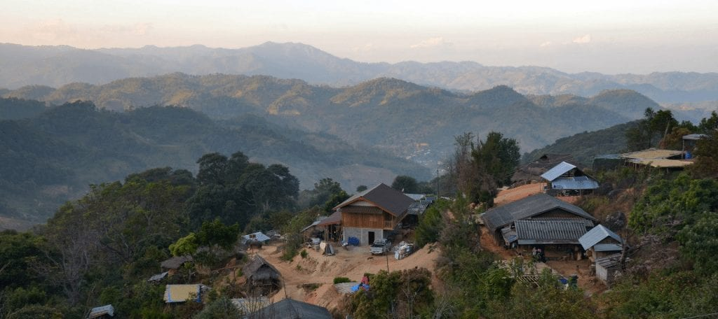view from the village of Mae Chan Tai