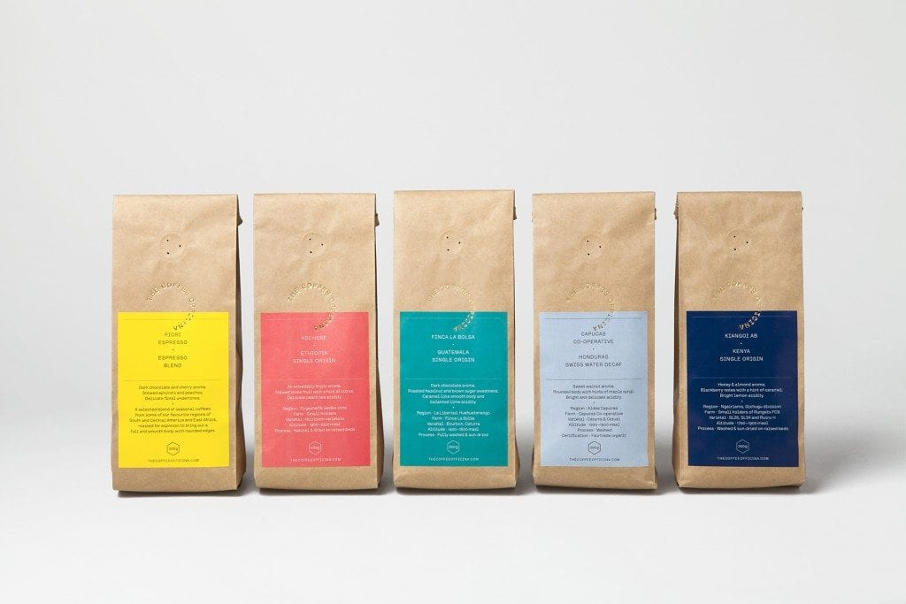 coffee officina packaging