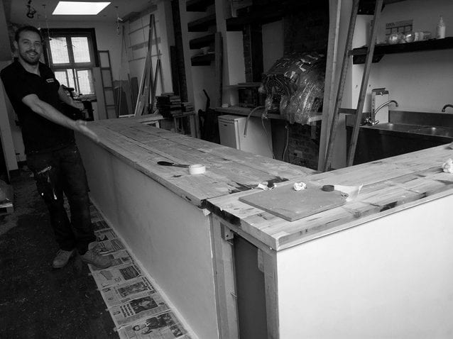 constructing a bar out of wood