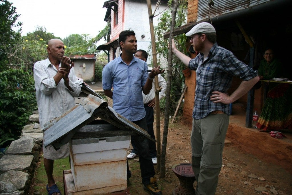 coffee farmers discussing production