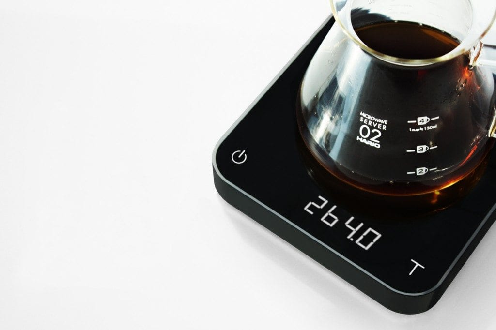 acaia pearl black with coffee