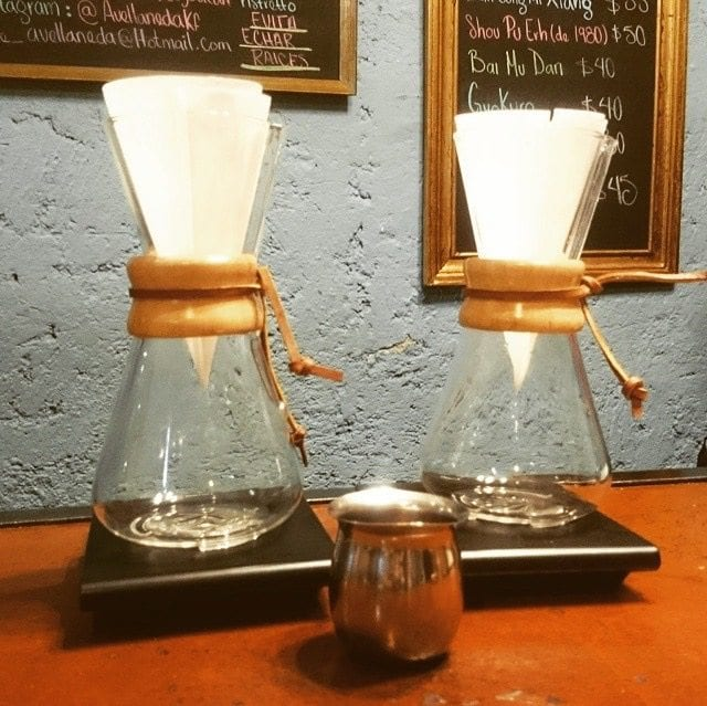 two chemex on scales
