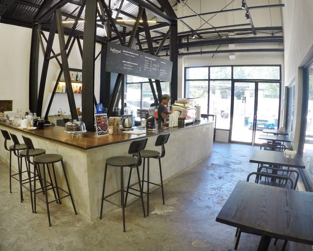 Habitual coffee shop interior