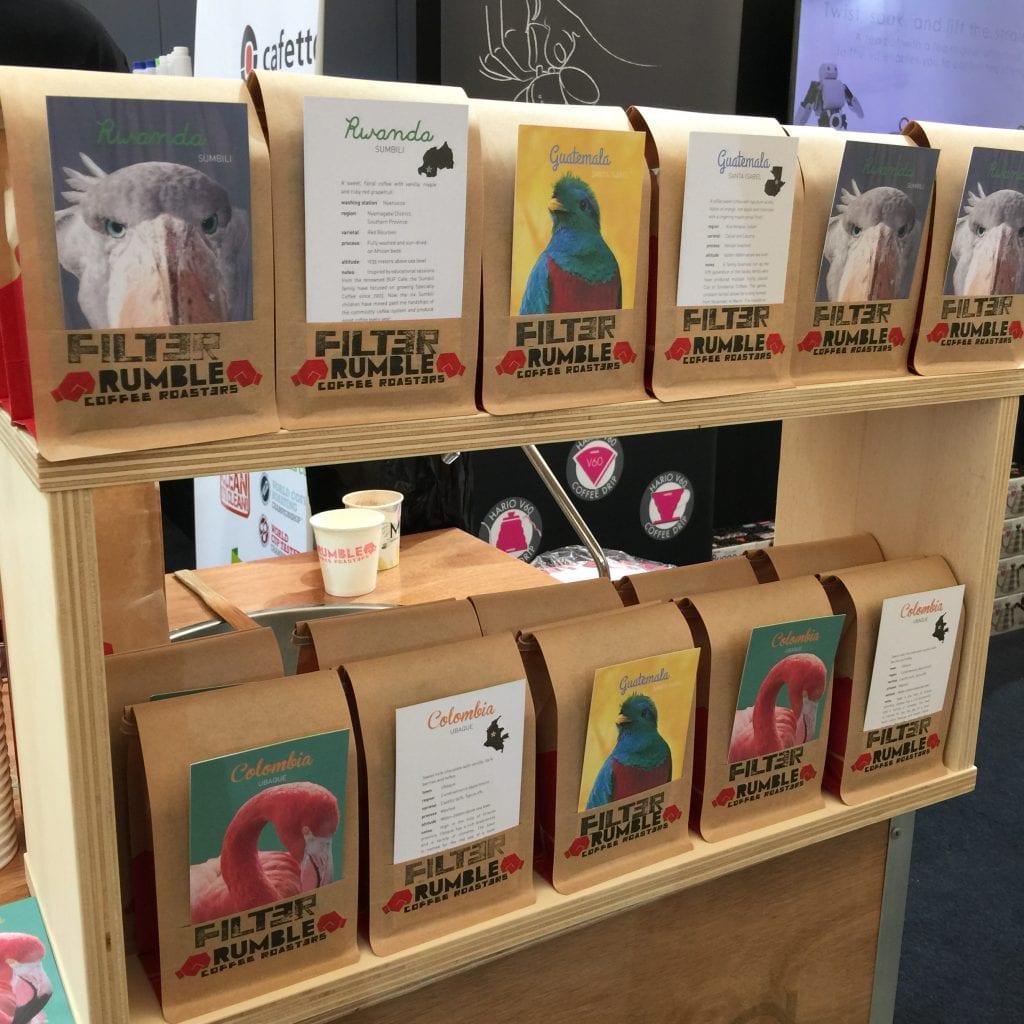 coffee bags by rumble coffee roasters