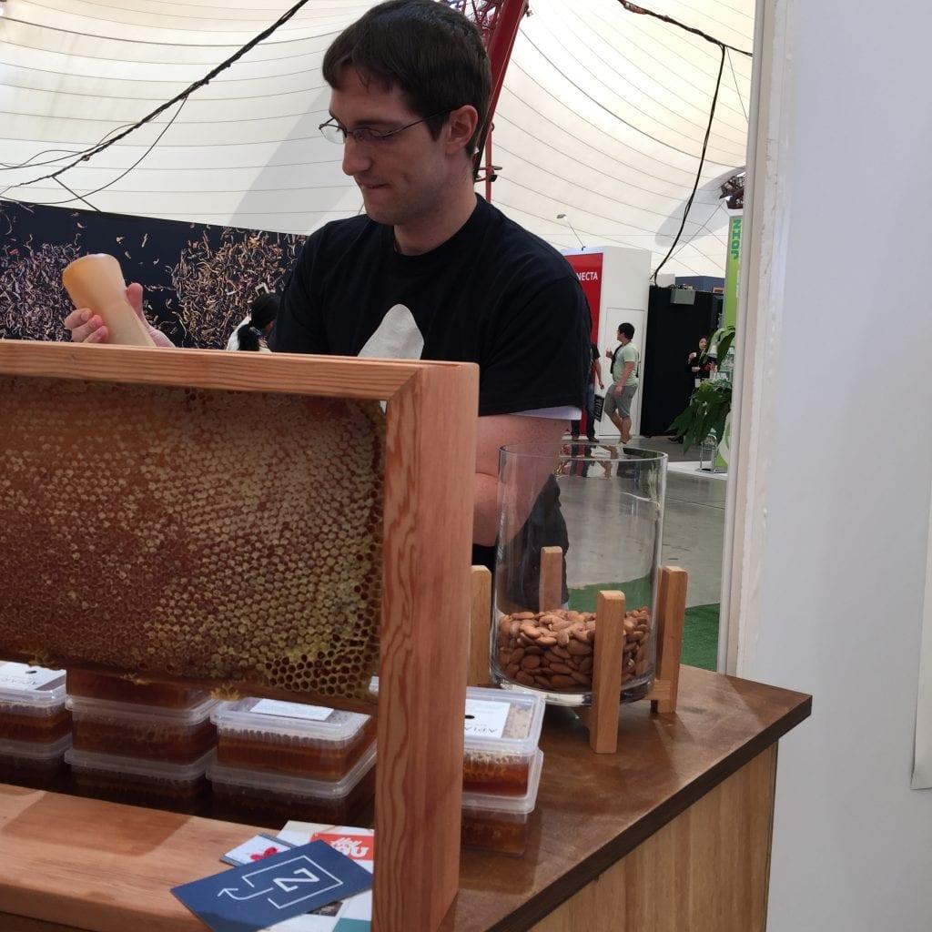 beekeeping at a coffee farm