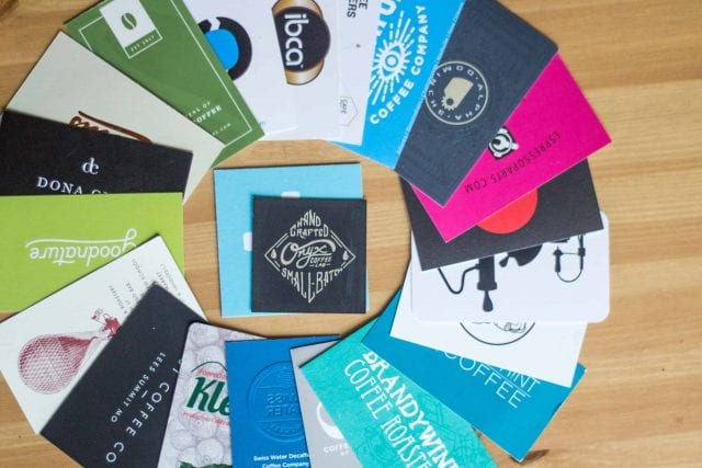 cafe brochure