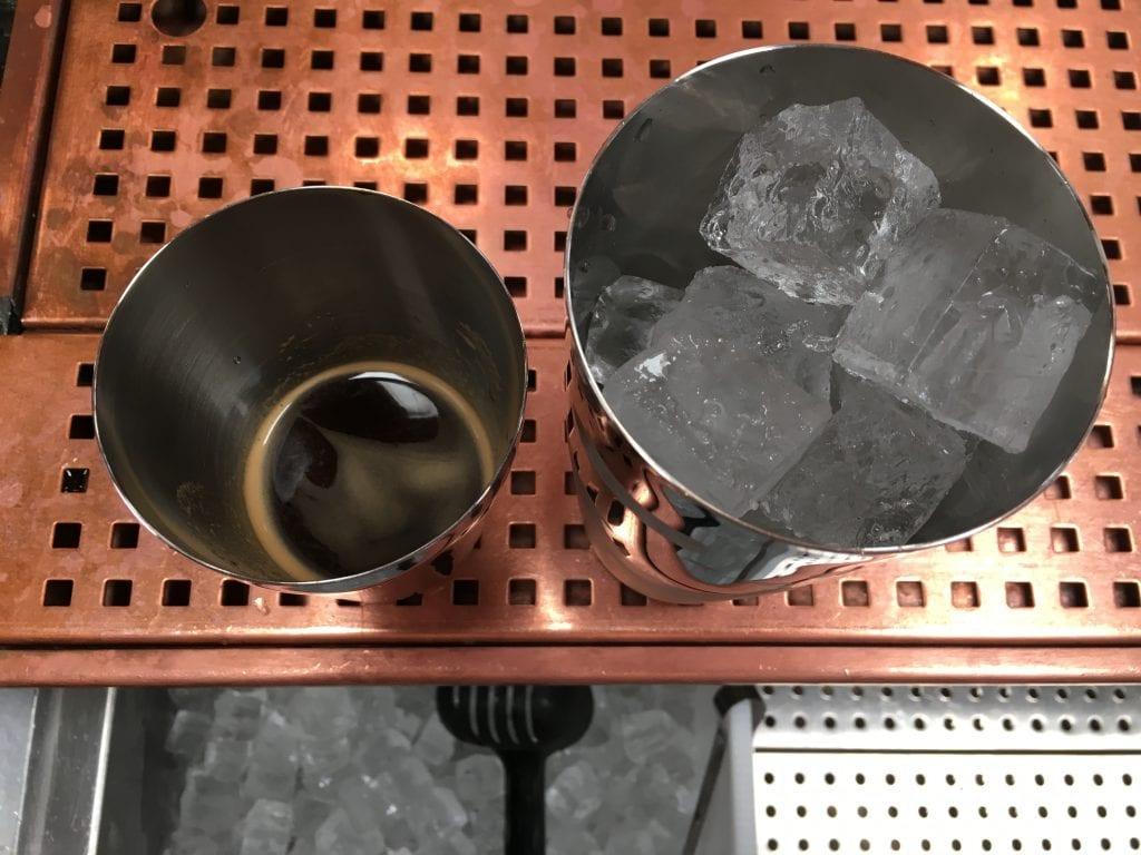espresso martini in the making