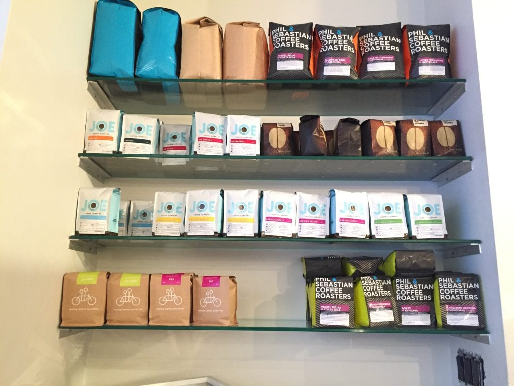 selection of retail coffees