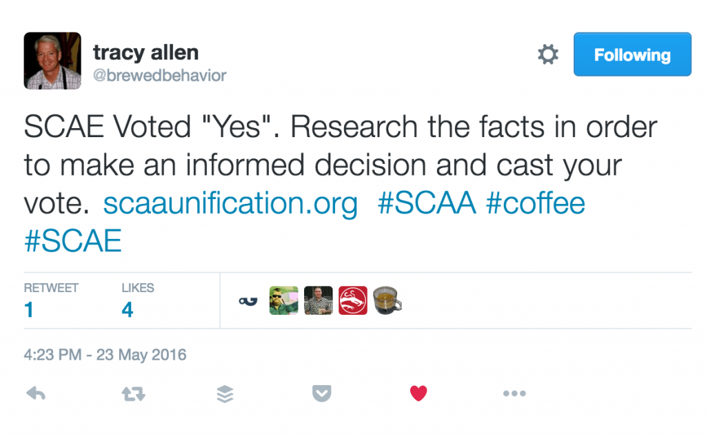 tracy allen SCAA tweet