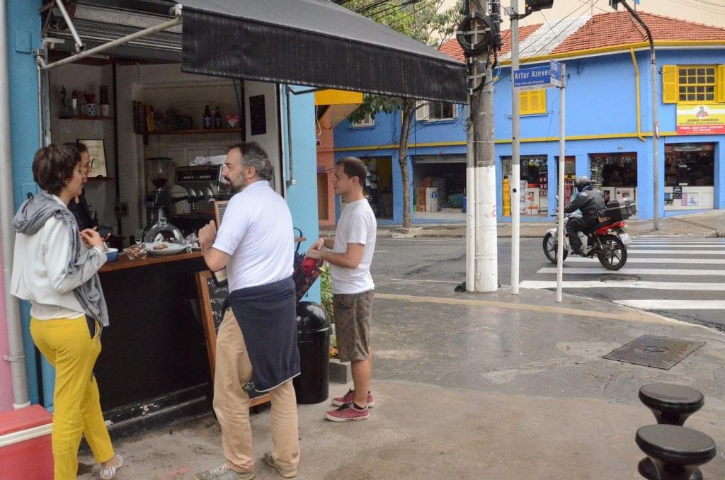 customers waiting for coffee