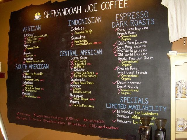 Shenabdoah Joe Coffee