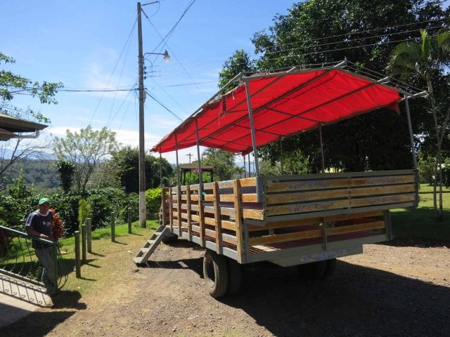 coffee farm touring trailer