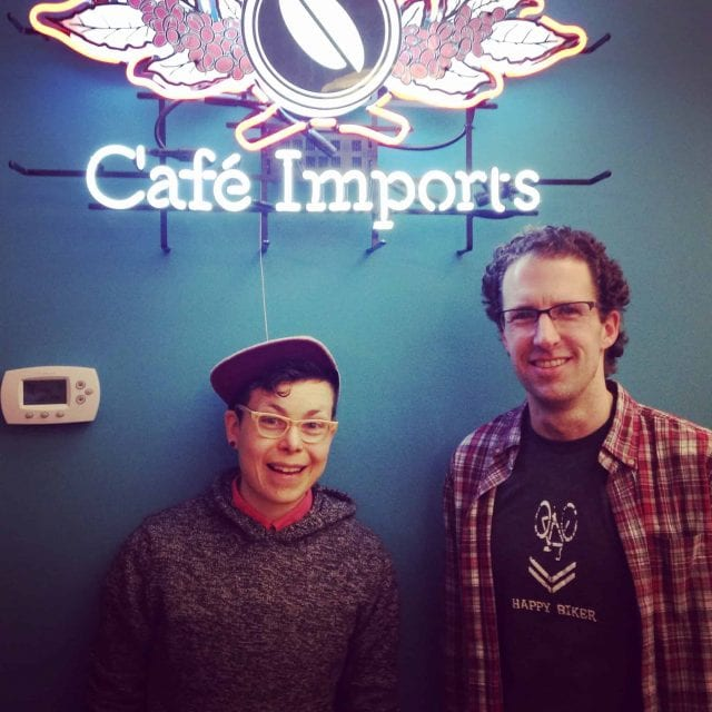 B. Gumm with Meister of Cafe Imports