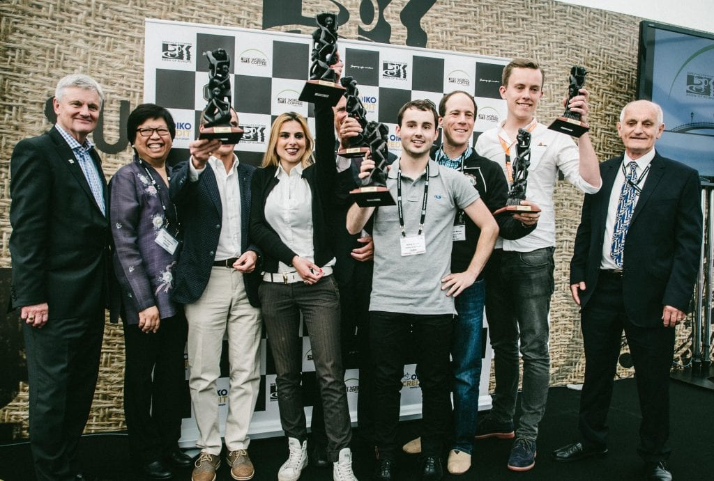 SCAE Excellence Award winners with their trophies