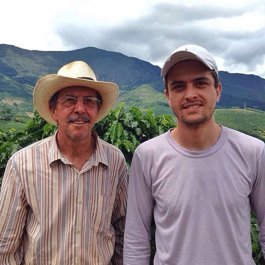 Two men on a coffee farm