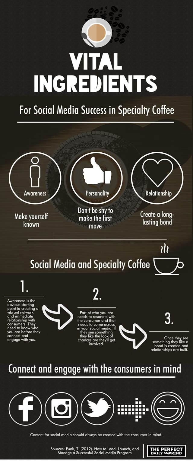 Infographic on the 3 vital ingredients to social media success
