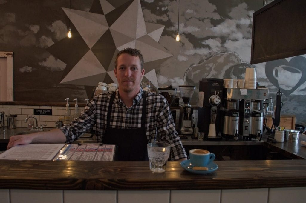 Dillon the barista behind the bar