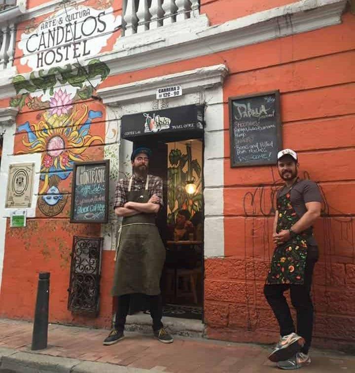Contraste, a colourful café in Bogotá