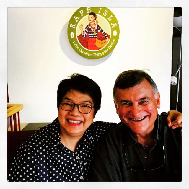 Chit Juan, President of the Philippine Coffee Board with CQI's Ted Lingle