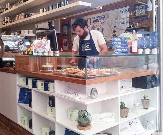 Libertario, a coffee shop in Bogotá