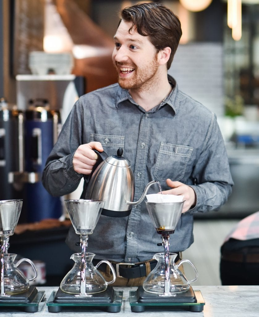 James Tooill brewing pour overs