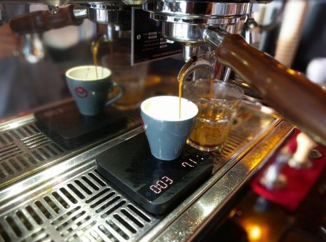 Splitting a double espresso into two singles
