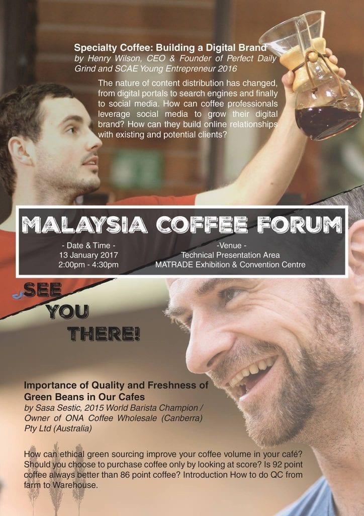 Malaysia Coffee Forum speakers