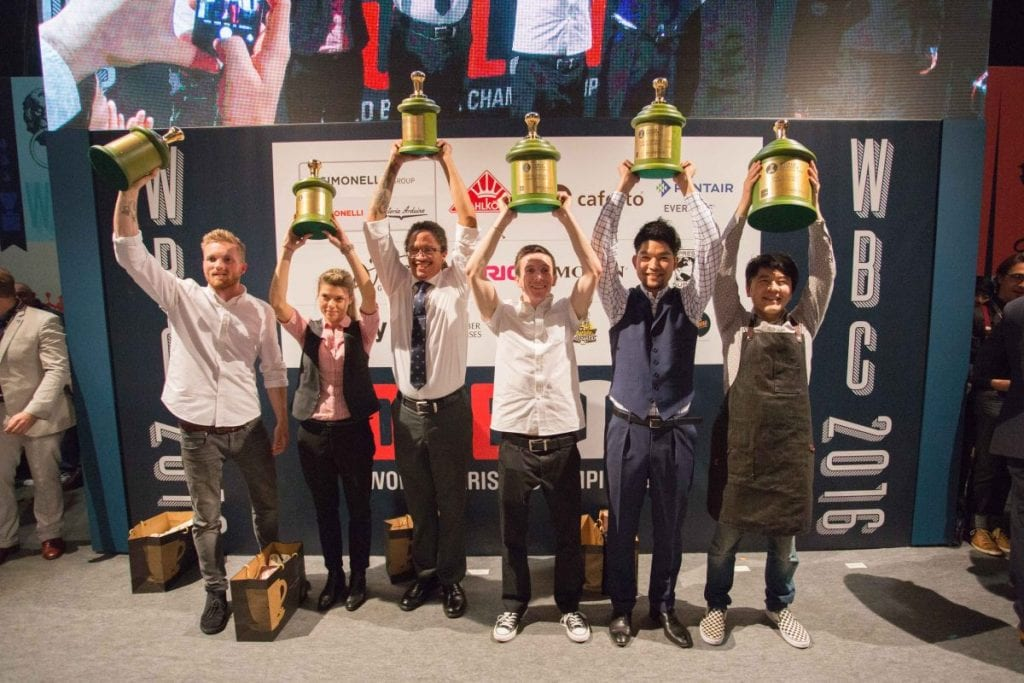 Winners of World Barista Championship 2016